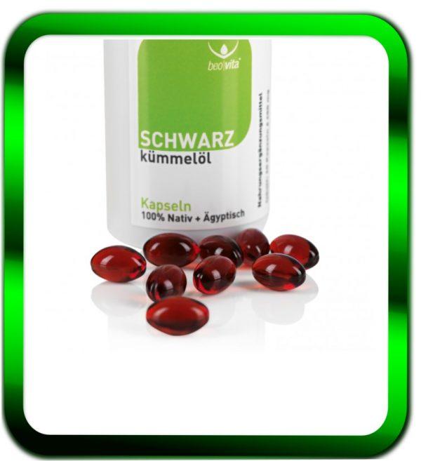 Beovita Schwarzkümmel-Öl (60 Kapseln) | Beovita| Schwarzkümmelöl